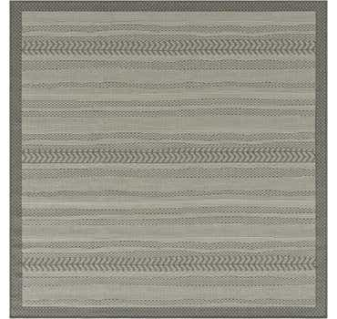 Image of 6' x 6' Outdoor Border Square Rug