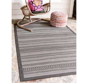 Image of  9' x 12' Outdoor Border Rug