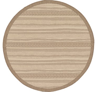 6' x 6' Outdoor Border Round Rug main image