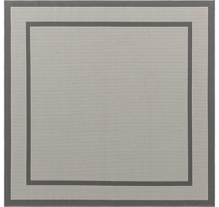 183cm x 183cm Outdoor Border Square Rug