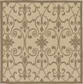 183cm x 183cm Outdoor Botanical Square Rug thumbnail
