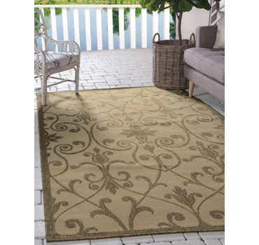 Image of  Beige Outdoor Botanical Rug