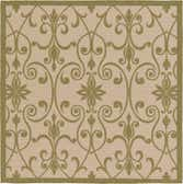 183cm x 183cm Outdoor Botanical Square Rug thumbnail image 1