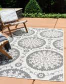 5' 3 x 8' Outdoor Botanical Rug thumbnail