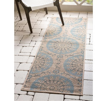 2' 2 x 6' Outdoor Botanical Runner Rug main image