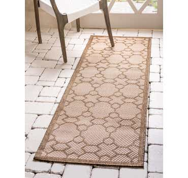 Beige Outdoor Lattice Runner ...