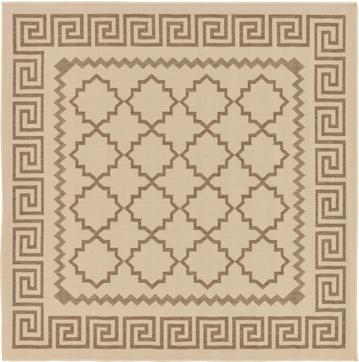 6' x 6' Outdoor Trellis Square Rug main image