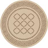 6' x 6' Outdoor Lattice Round Rug thumbnail