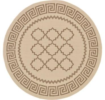 6' x 6' Outdoor Trellis Round Rug main image