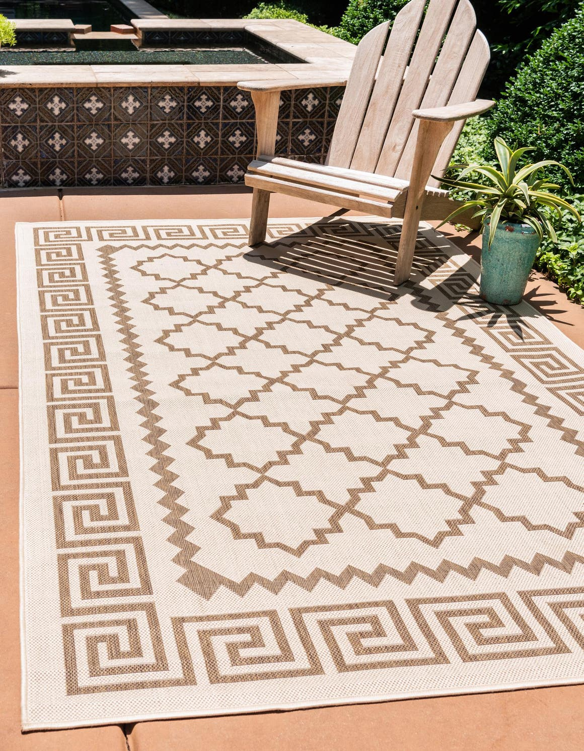 5' 3 x 8' Outdoor Trellis Rug main image