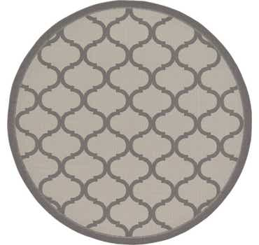 Image of 6' x 6' Outdoor Trellis Round Rug