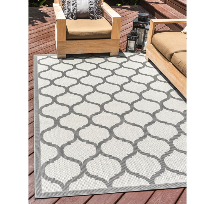 Image of 6' x 9' Outdoor Trellis Rug