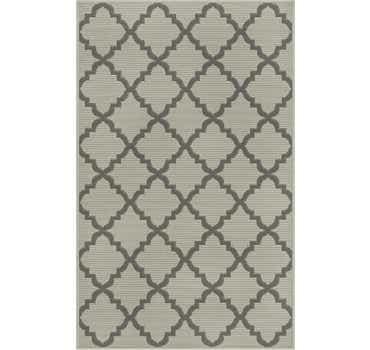 Image of  Gray Outdoor Lattice Rug