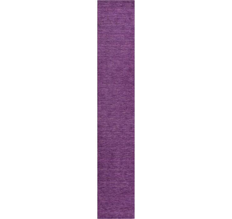Image of 80cm x 500cm Solid Gabbeh Runner Rug