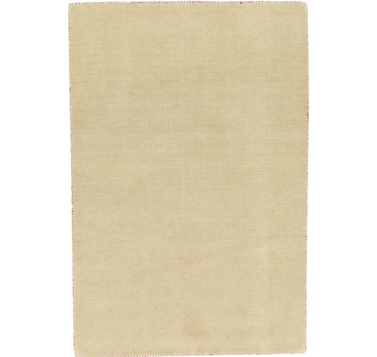 Image of 4' x 5' 7 Solid Gabbeh Rug