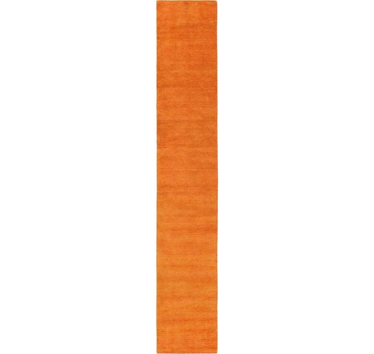 80cm x 500cm Solid Gabbeh Runner Rug