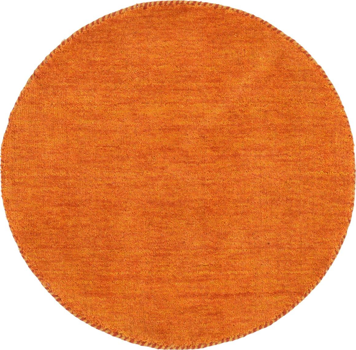 Orange  2' 4 x 2' 4 Solid Gabbeh Round