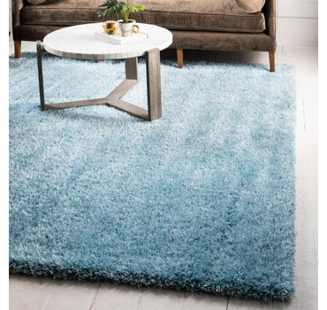 8' x 8' Luxe Solid Shag Square Rug main image