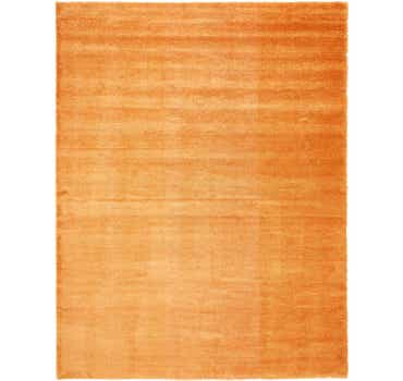 Image of  Orange Luxury Solid Shag Rug