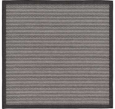 Gray Outdoor Border Square Rug