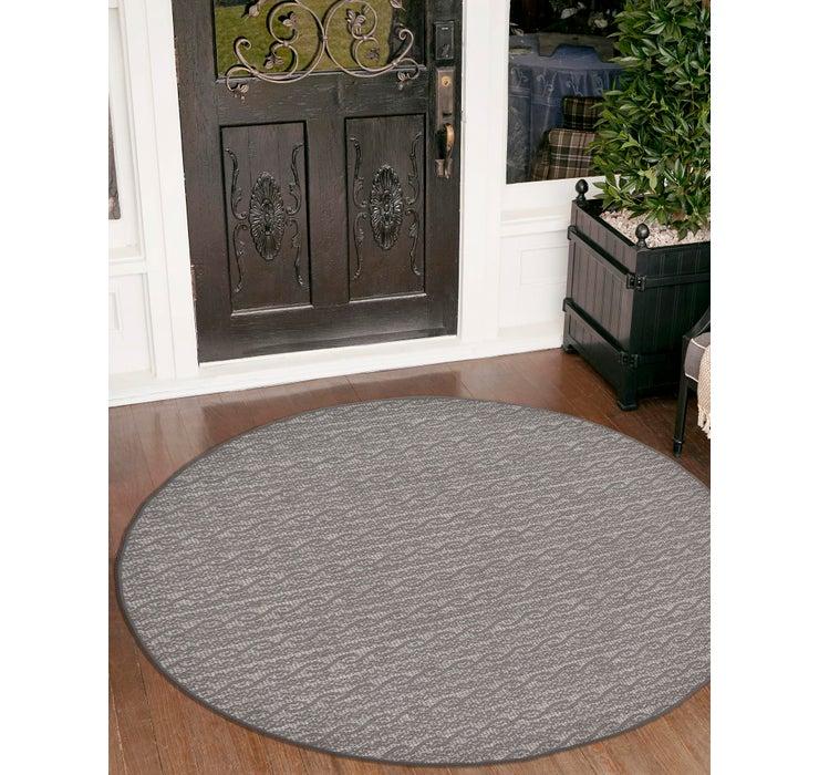 183cm x 183cm Outdoor Modern Round Rug