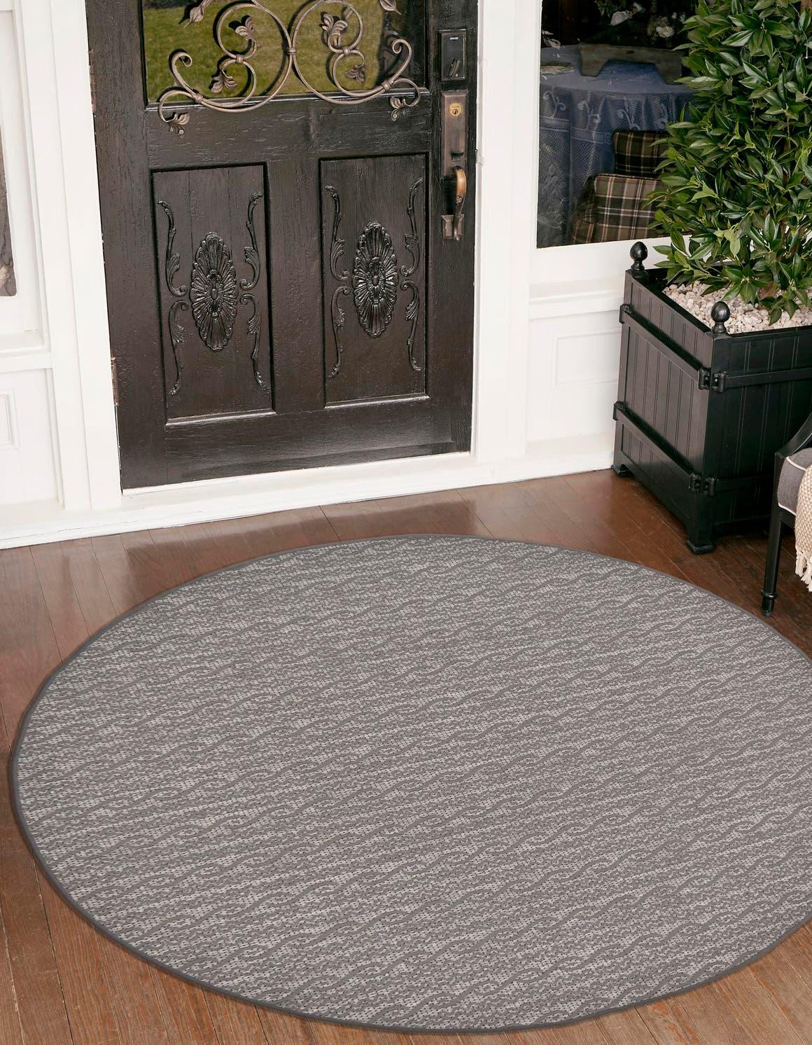 6' x 6' Outdoor Modern Round Rug main image