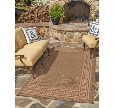 Image of  Brown Outdoor Border Rug