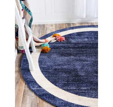 Image of  Navy Blue Angelica Round Rug