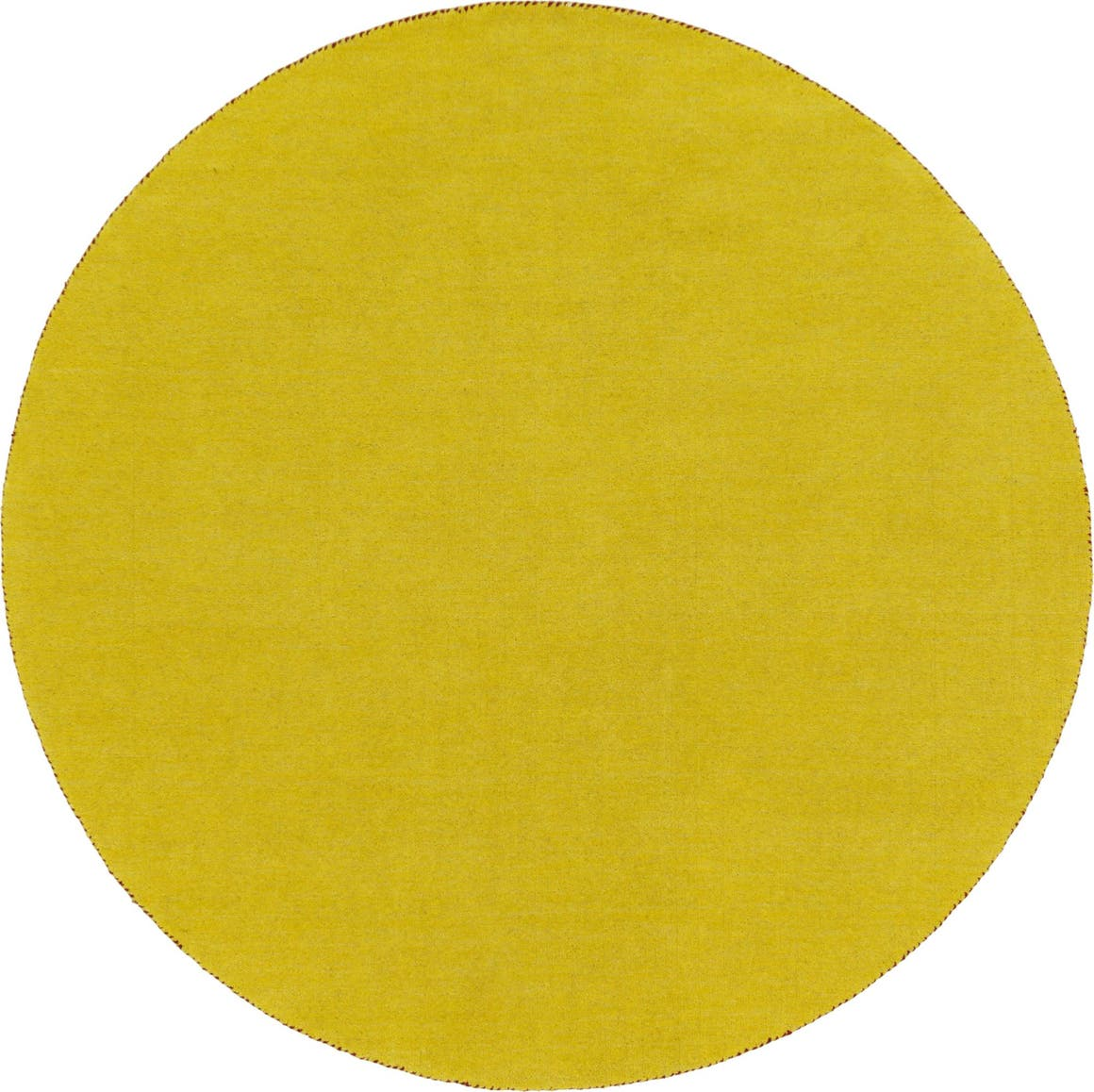 6' 7 x 6' 7 Solid Gabbeh Round Rug main image