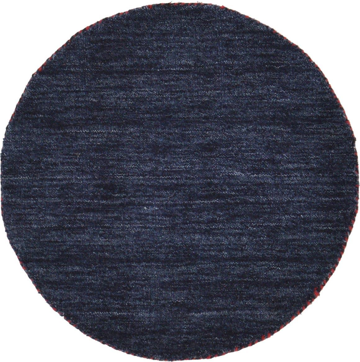 2' 4 x 2' 4 Solid Gabbeh Round Rug main image