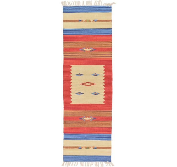 Image of 2' x 6' 7 Kilim Dhurrie Runner Rug