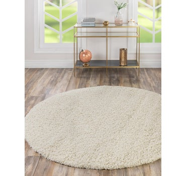8' x 8' Solid Shag Round Rug main image