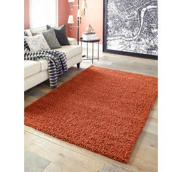 Image of 8' x 11' Solid Shag Rug