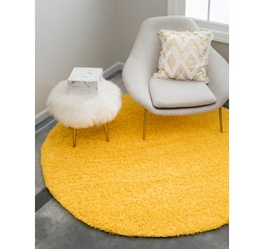 7' x 7' Solid Shag Round Rug main image