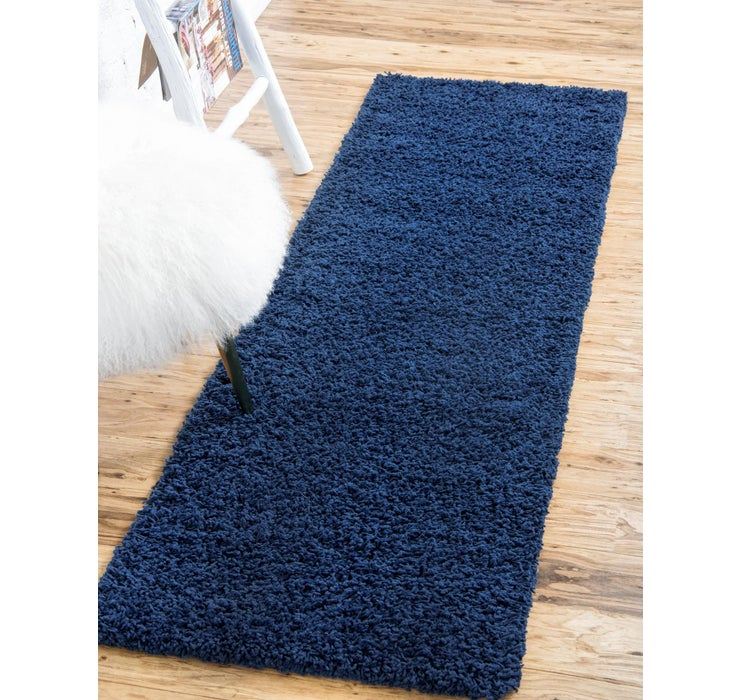 Image of 2' 6 x 16' 5 Solid Shag Runner Rug