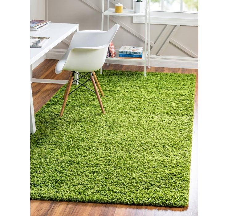 Grass Green Solid Shag Rug