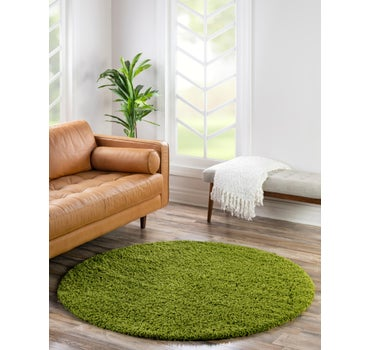 6' x 6' Solid Shag Round Rug main image