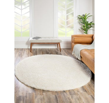10' 2 x 10' 2 Solid Shag Round Rug main image
