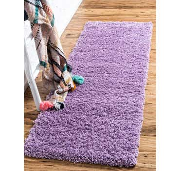 Image of  Lilac Solid Shag Runner Rug
