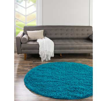 Image of Turquoise Classic Round Rug