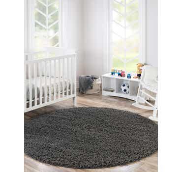 Image of Graphite Gray Classic Round Rug