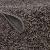 5' x 5' Solid Shag Round Rug thumbnail
