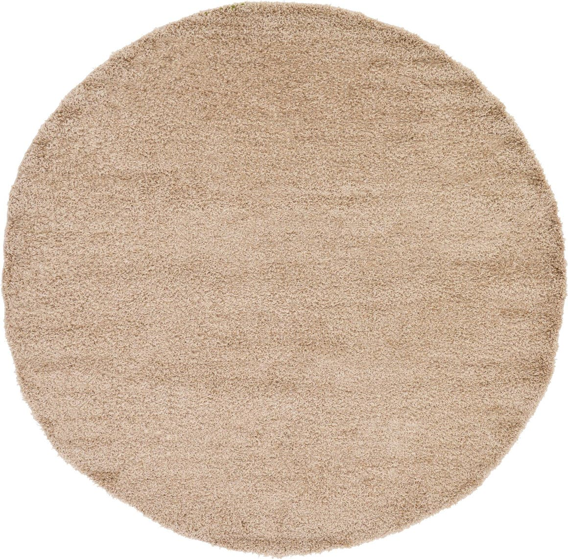 8' x 8' Solid Shag Round Rug main image