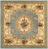 183cm x 183cm Classic Aubusson Square Rug thumbnail