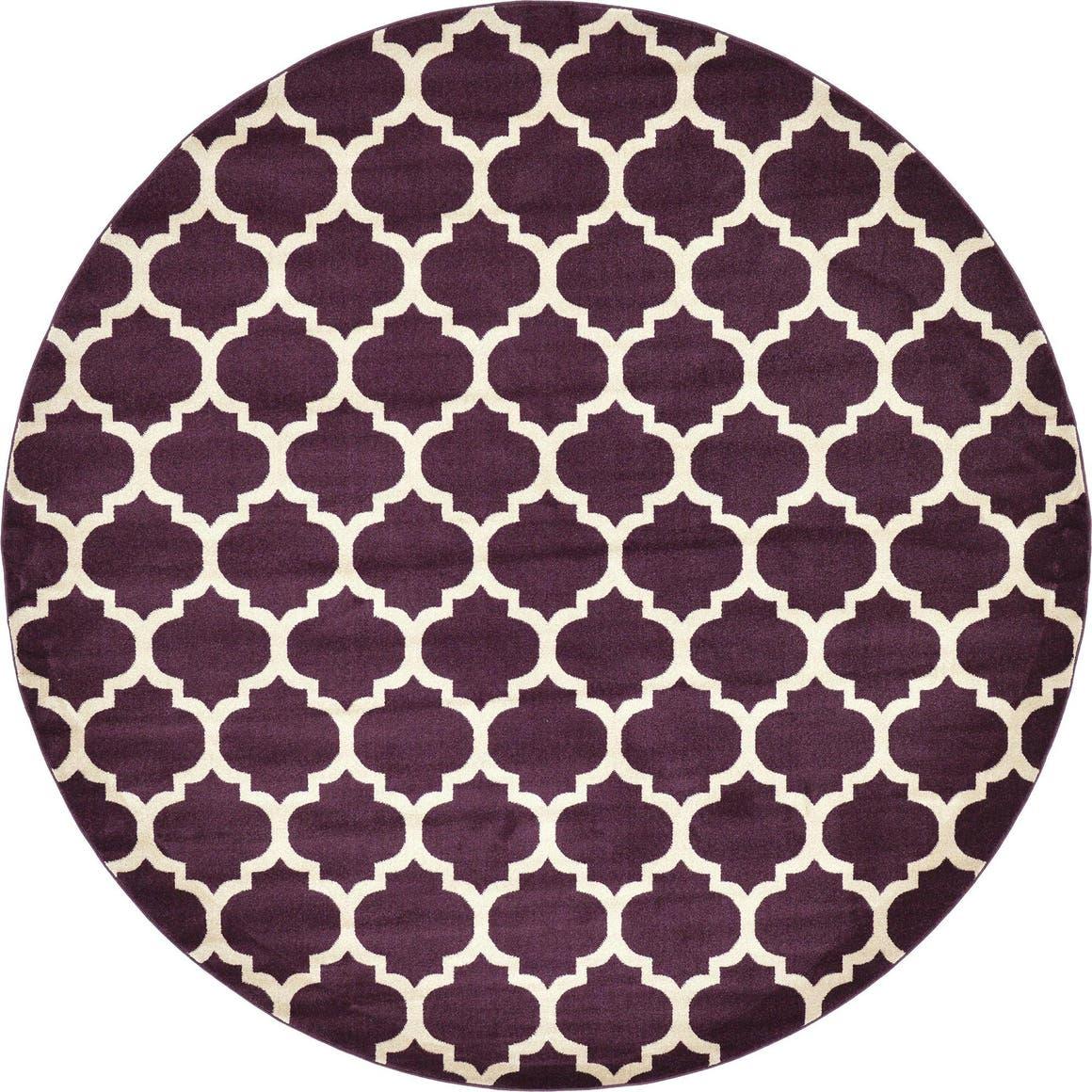 10' x 10' Trellis Round Rug main image