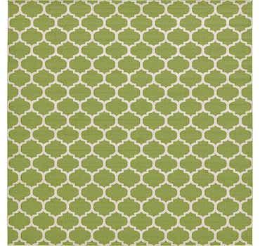 Light Green Lattice Square Rug