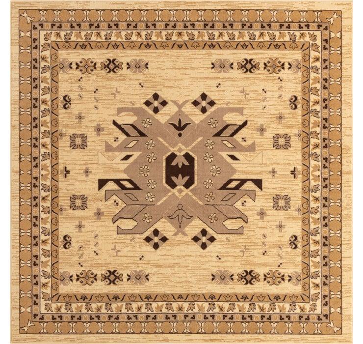 8' x 8' Heriz Design Square Rug