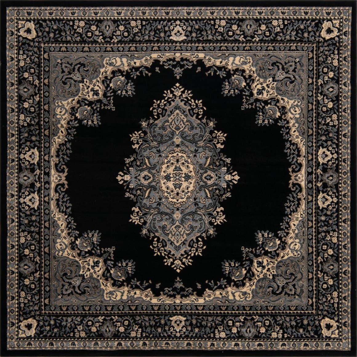 8' x 8' Mashad Design Square Rug main image