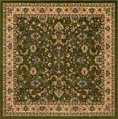 8' x 8' Kashan Design Square Rug thumbnail