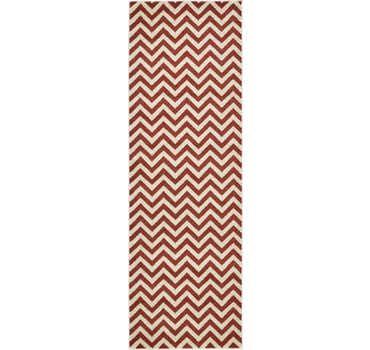Image of  Rust Red Chevron Runner Rug
